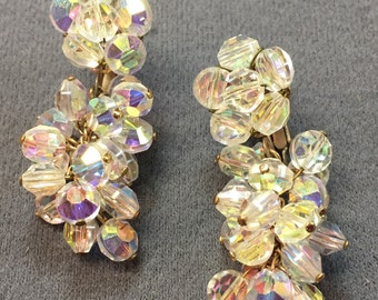 Gorgeous Vintage Chandelier Crystal Earrings-Free shipping