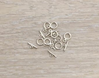 Sterling Silver Toggle Clasps, 925 Sterling Silver Clasps