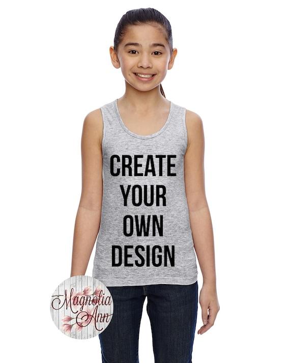 Girls Long Tank Top, Custom Girls Tank Top, Kids Tank Top, Kids Custom Tank, Custom Shirts for Kids, Custom Clothing, Custom Kids