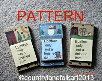 Painting Epattern, post it note holders, primitive pattern, tole painting patterns, painting patterns, snowman pattern, decorative painting