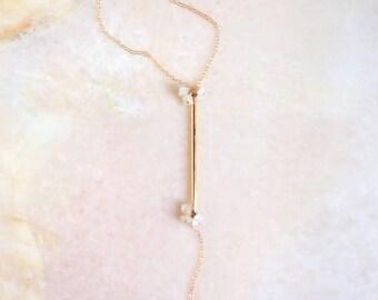 A N N I K A ∙ moonstone lariat necklace