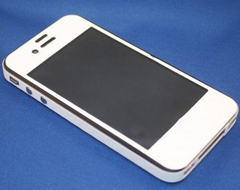 CarbonShield iPhone 4 White Carbon Fiber Full Body Protection. 3 Piece Kit