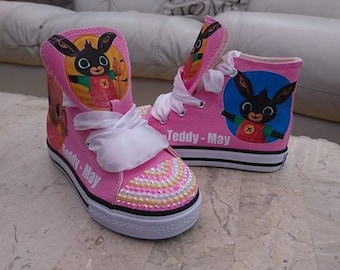 Custom Canvas Shoes Personalised Bing Bunny Sneakers Pumps High Tops