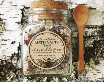 Mother's Day Gift | Bath Salts | All Natural Gift For Her | Botanical Bath Soak | Himalayan Bathing Salts | Floral Bath Salts | Gift for Her