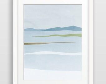 Impression d'Art, paysage abstrait, scandinave moderne, imprimé Abstrait Art mural, affiche minimaliste, paysage d'hiver