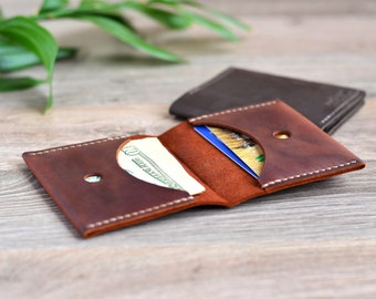 Leather Wallet Minimalist Leather Wallet Mens Leather Wallet Leather Card Holder Brown Leather Wallet Slim Leather Wallet Brown Mens Wallet