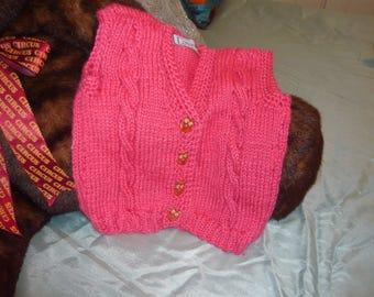 Hand Made vest for girls