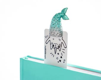 Purrmaid. Meowmaid bookmark. Babes Collection. Handmade and crafted with love gift for her, mom, women, teen girl, granny, child, sister.