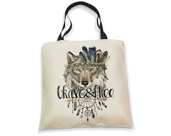 Ecobag Eco-Bag Eco Bag Shopper Bag Nature Gift Beach Bag Everyday Bag Reusable Canvas Cotton Flower Wolf