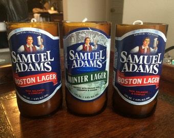 Sweet Pea Scented Sam Adam Beer Candles