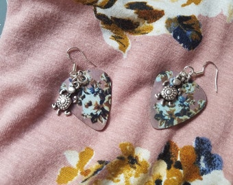 guitar pick earrings, guitar pick, custom guitar pick, matching guitar pick earrings, gift for her, statement earrings, best friend gift