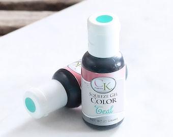 Teal Food Gel, Cake Decorating, CK Teal Frosting Dye, Teal Gel Coloring, Teal Icing Dye, Fondant Dye, Food Dye, Food Coloring
