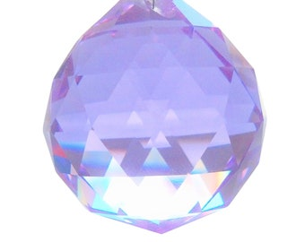 50mm Lilac Chandelier Crystal Ball Shabby Chic