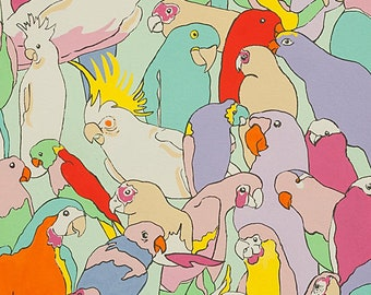Rainbow Parrot in Pastels from Nicole's Prints by Alexander Henry