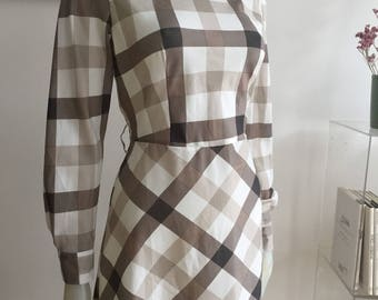 Vintage checkered dress
