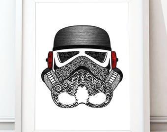 Stormtrooper helmet collection - metal print