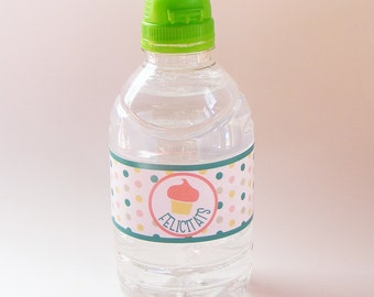 WATER BOTTLE LAVELS set of 6. Birthday party. Theme Rain. Candy bar. Sweet table. Sweet buffet