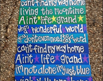 Widespread Panic I'm Not Alone  hand painted  wooden sign