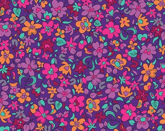 Summer Garden - 1309-60 Floret Violet - from Benartex