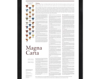 CLEARANCE! Magna Carta: A 24- by 36-inch print