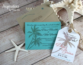 Save the date luggage tags, Destination Wedding, Save The Date