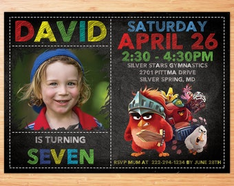 Angry Birds Invitation, Angry Birds Party, Angry Birds Birthday Invitation, Angry Birds Printables, Angry Birds Personalized Birthday Invite