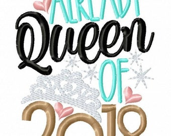 Already Queen of 2018 -2018 -New Years -New Years Celebration -New Years Vibe -Holiday -New Years Resolution -Welcome 2018 -King 2018