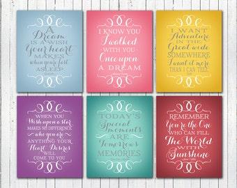 "Disney Princess Quotes - Set of Six  8x10"" Printables - Instant Download"