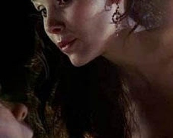 As seen on Maurella of True Blood  Earrings  in Antique Gold Amber Crystal