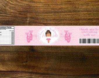 Little Ballerina Water Bottle Label