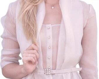 Silk blouse. Blouse organza.