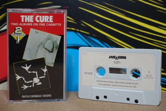 Faith / Carnage Visors by The Cure Vintage Cassette Tape