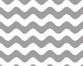 Half Yard Wave - Waves in Gray - Cotton Quilt Fabric - RBD Designers for Riley Blake Designs - C415-40 (W3292)