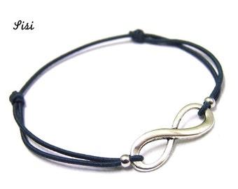 Bracelet dark blue infinity