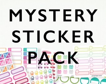 Planner Stickers - Mystery Pack -  5+ Sheets, Includes Postage