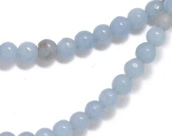 Angelite Beads - 4mm Round