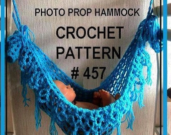 CROCHET PATTERN, Instant download,   FRINGED Hammock photo prop handmade pattern #457 , basket liner, permission to sell finished hammocks
