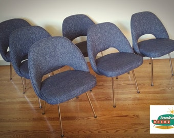 SOLD Vintage style Mid Century Modern Saarinen Executive Chairs Dining Chairs
