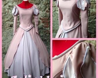 Ariel pink dress princess disney little mermaid cosplay costume