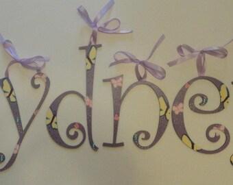 Butterfly Wall Letters