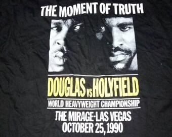 Vintage Rare The Moment Of Truth Douglas Vs Evander  Holyfield World Heavyweight Championship The Mirage Las Vegas 1990 Xxl 48 50