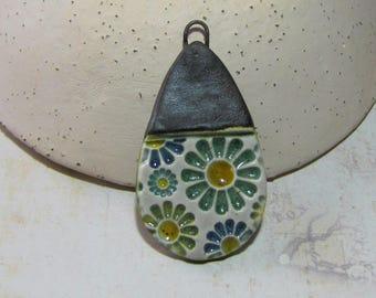 Handcrafted ceramic Margarita drop pendant