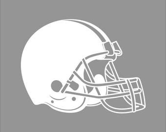 Cleveland Browns White Vinyl Decal