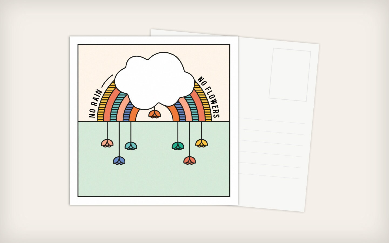 square postcards