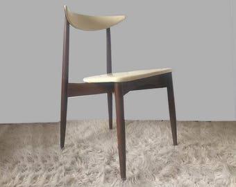 Kodawood Mid Century Danish Modern Seymour James Weiner Side Chair Vintage 1950s 50s