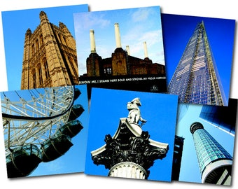 "Greeting cards – 6-pack CLEARANCE – ""London Landmarks"" – FREE UK postage"