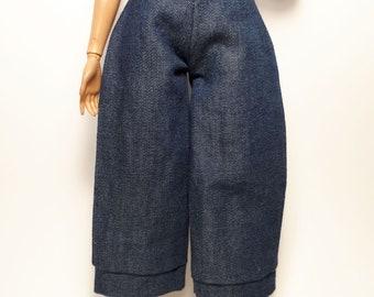 Dark denim gauchos
