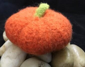 Small felted pumpkin