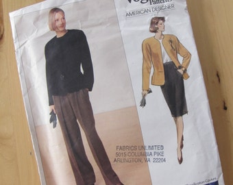 Uncut Vintage Vogue 2355 Anne Klein Sewing Pattern Size 12-16