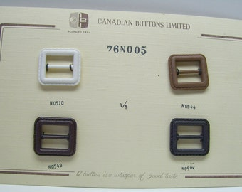 White vintage buckle,plastic black/espresso/caramel buckle,Canadian Buttons Limited,buckles,assorted color buckles
